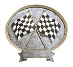 Legends Sports Oval Resin - Racing Cars, Cycles and Racing Award Trophies