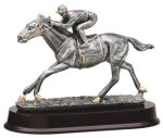 Horse Racing - Silver Sculpture Resin Cars, Cycles and Racing Award Trophies