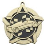 Super Star Medal - Pinewood Derby Cars, Cycles and Racing Medals