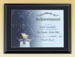 Glass Certificate Plaque - Black Certificate Holders