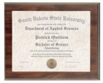 Cherry Finish Slide-In Frame Plaque Certificate Plaques