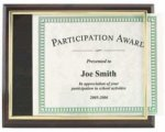Certificate Plaque Kit with EZ Slide Frame Certificate Plaques