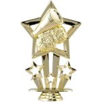 Star Cheer Figure on Round Base Cheer