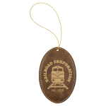 Leatherette Ornaments - 4 Styles in Rustic/Gold Christmas Ornaments