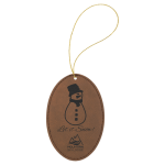 Leatherette Ornaments - 4 Styles in Dark Brown  Christmas Ornaments