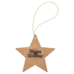 Leatherette Ornaments - 4 Styles in Light Brown Christmas Ornaments