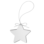 Star Clear Glass Ornament with Silver String Christmas Ornaments