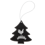 Leatherette Ornaments - 4 Styles in Black/Silver  Christmas Ornaments