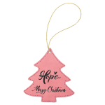 Leatherette Ornaments - 4 Styles in Pink Christmas Ornaments