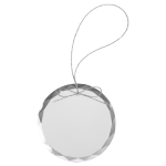 Round Clear Glass Ornament with Silver String Christmas Ornaments