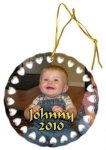 Ceramic Round Dolly Ornament Christmas Ornaments