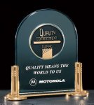 Jade Acrylic Award with Medallion Clear and Jade Traditional Acrylic Awards
