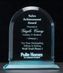 Arch Series Acrylic Award on Acrylic Base. Clear and Jade Traditional Acrylic Awards
