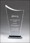 Contemporary Clear Glass Award with Pedestal Base Clear Glass Awards