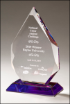 Flame Series Crystal Award with Prism-Effect Base Clear Optical Crystal Awards