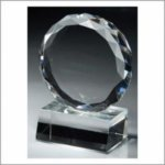 Special Diamond Cut Circle on Base - Optical Crystal Clear Optical Crystal Awards
