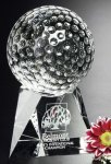 Golf - Triad Golf Crystal Award Clear Optical Crystal Awards