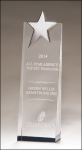 A New Item! Crystal Trophy with Silver Star Clear Optical Crystal Awards
