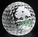 Golf - Clipped Golf Ball Clear Optical Crystal Awards