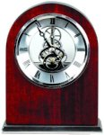 Rosewood Piano Finish Clock - Arch Clocks