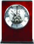 Rosewood Piano Finish Clock - Square Clocks