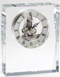 Crystal Freestanding Skeleton Clock Clocks and Paperweights