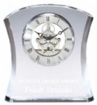 Crystal Curve Skeleton Clock Clocks and Paperweights