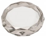 A Premier Crystal Diamond Cut Paperweight Clocks and Paperweights