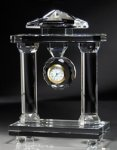Clock with Columns - Optical Crystal Clocks and Paperweights