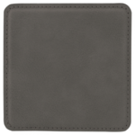 Gray Leatherette Coaster Coasters