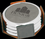 Beverage Coaster Set - Gray  Coasters