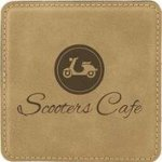 Light Brown Leatherette Coaster Coasters and Koozies