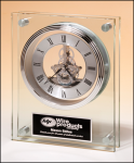 Contemporary Glass Skeleton Clock Crystal and Glass Clocks