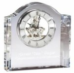 Crystal Mantel Skeleton Clock Crystal and Glass Clocks