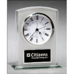 Glass Clock with Frosted Top Crystal and Glass Clocks