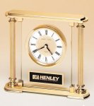 Traditionally Styled Desk Clock Crystal and Glass Clocks