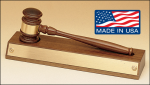 American Walnut Base with Removable Gavel Set. Desk Items Made in the USA
