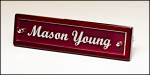 Rosewood Piano-Finish Nameplate with Acrylic Engraving Plate    Desk Name Plates and Bars