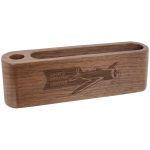 Walnut Wood Business Card and Pen Holder   Desk Pen Sets Portfolios and Business Card Holders
