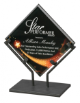 Star Galaxy Acrylic Art Plaque with Iron Stand Diamond Awards