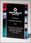 Premium Series Acrylic with Stained Glass Pattern Border Diamond Awards