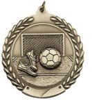 Soccer/Futbol - Die Cast Wreath Medallion Die Cast Wreath Medallion