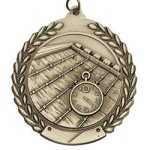 Swimming - Die Cast Wreath Medallion Die Cast Wreath Medallion