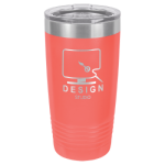 20 Oz Coral Coated Ringneck Tumbler with Lid   Drinkware