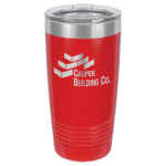 20 oz Red Coated Ringneck Tumbler with Lid    Drinkware
