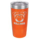 20 oz Orange Coated Ringneck Tumbler with Lid     Drinkware