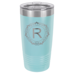 20 oz Light Blue Coated Ringneck Tumbler with Lid   Drinkware