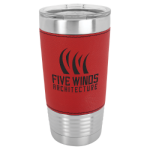 20 Oz Leatherette Polar Camel Tumbler with Clear Lid - Red Drinkware