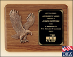 American Walnut Plaque with Eagle Casting Eagle Scout Awards