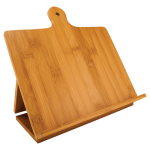 Bamboo Standing Chef's Easel   Eco-Friendly Bamboo and Cork